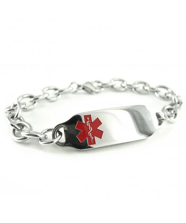 MyIDDr Pre Engraved Customized Patient Bracelet