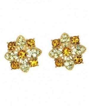 Clear Crystal Flower Stud Earrings