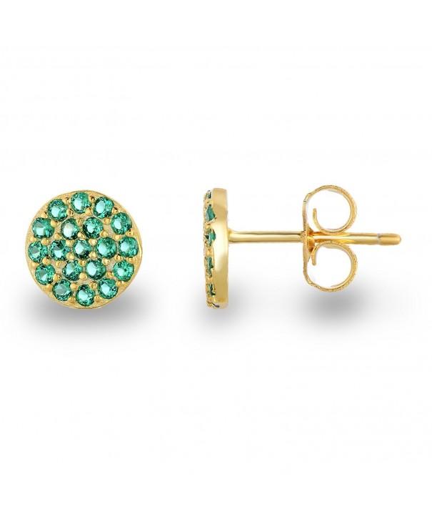 Yellow Simulated Emerald Earrings Diameter