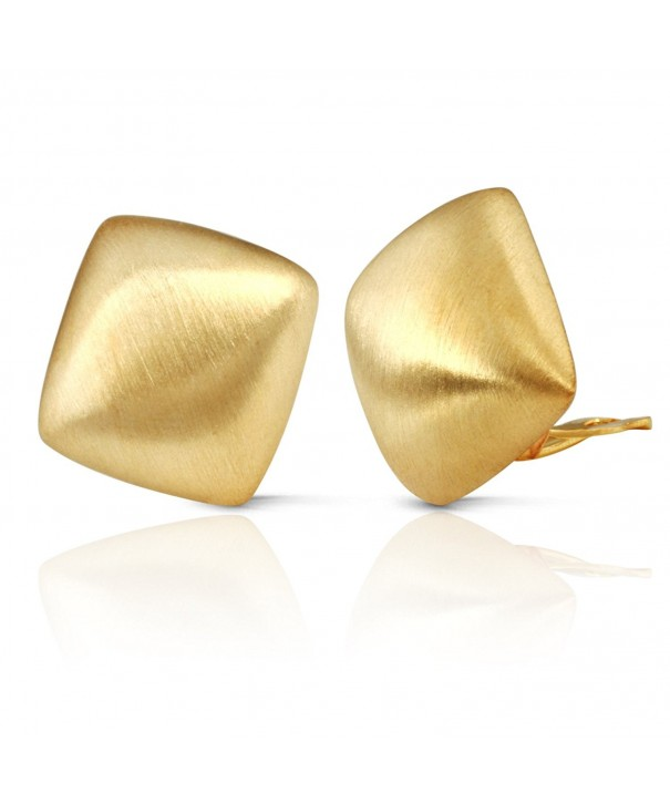 JanKuo Jewelry Matte Square Earrings