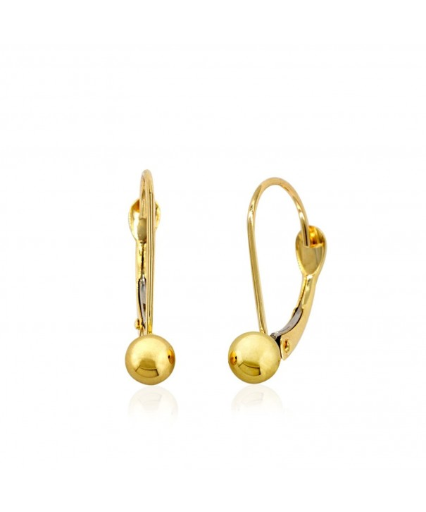Yellow Small Fixed Leverback Earrings