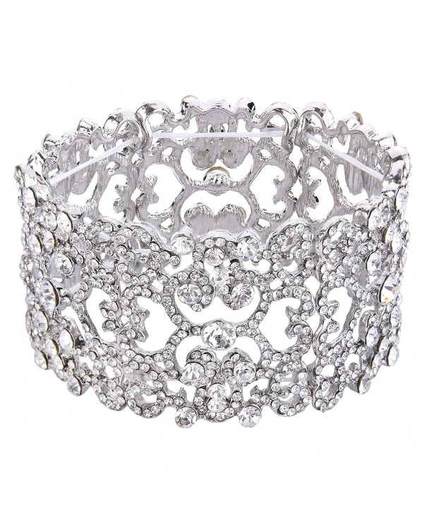 EVER FAITH Austrian Bracelet Silver Tone