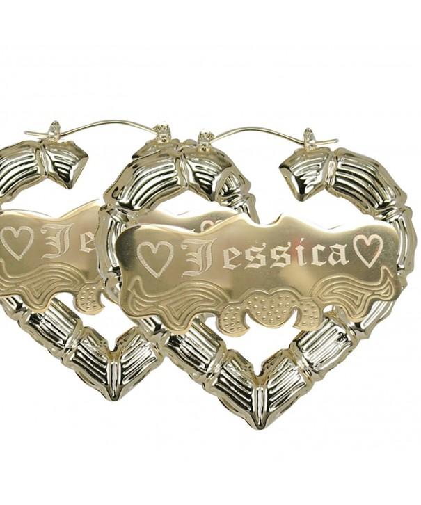 Personalized Heart shape Earrings Custom