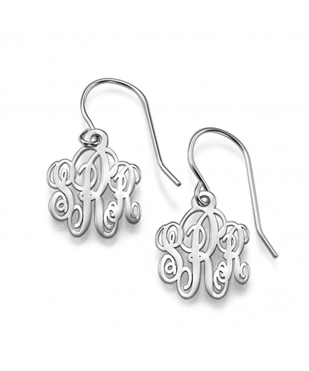 Personalized Monogram Earrings Initial Sterling silver