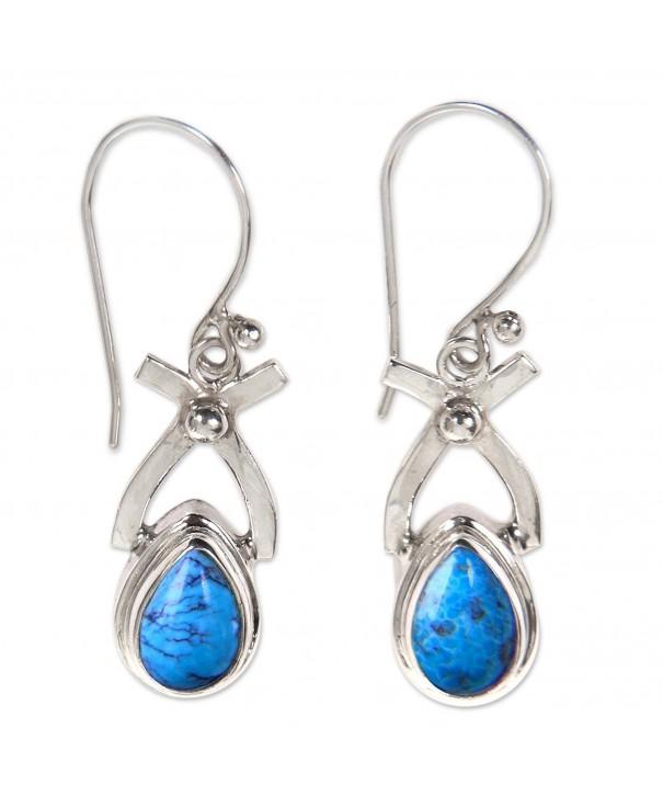 NOVICA Turquoise Sterling earrings Temptations