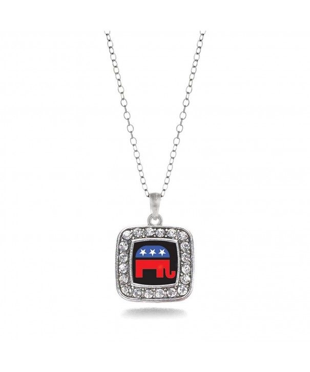 Inspired Silver Republican Elephant Necklace