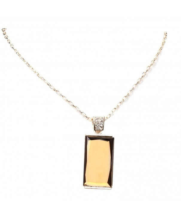Rhinestone Crystal Necklace Jewelry Rectangle