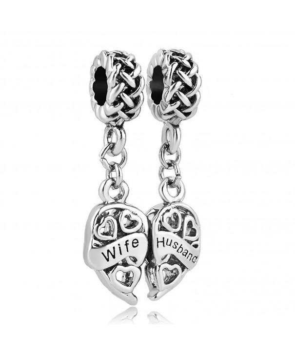 LovelyJewelry Husband Charms Family Bracelets