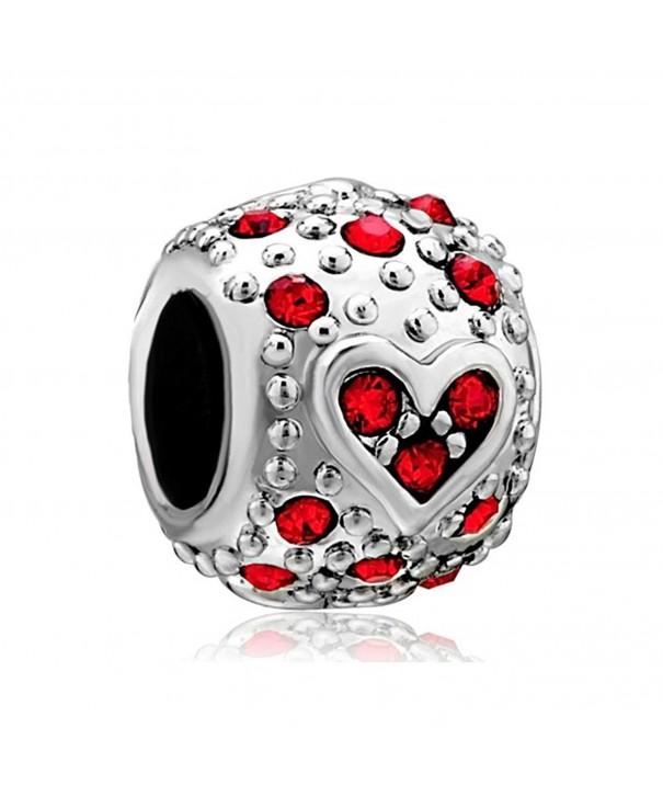 LovelyJewelry Bling Garnet Crystal Bracelet