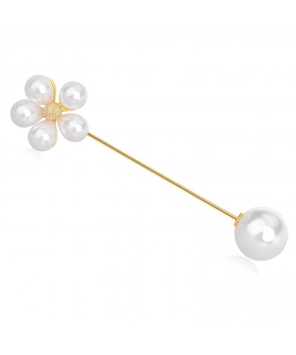 IPINK Pearl Lapel Stick Brooch