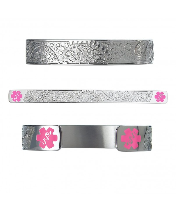 Divoti Engraved Paisley Medical Bracelet