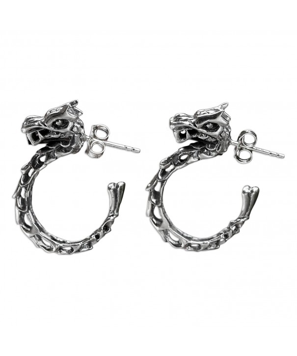 NOVICA Sterling Half hoop Earrings Anantaboga