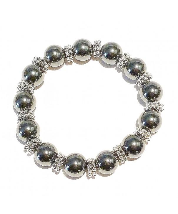 Hematite Gemstone Handcrafted Stretch Bracelet