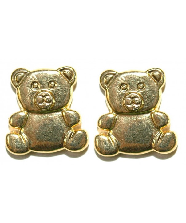 Gold Colored Teddy Earrings S074