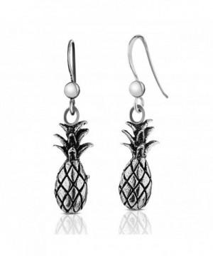 Sterling Silver Pineapple Polished Earrings