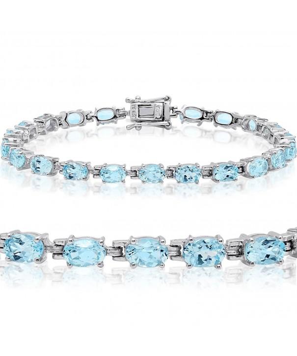 Topaz Tennis Bracelet Sterling Silver