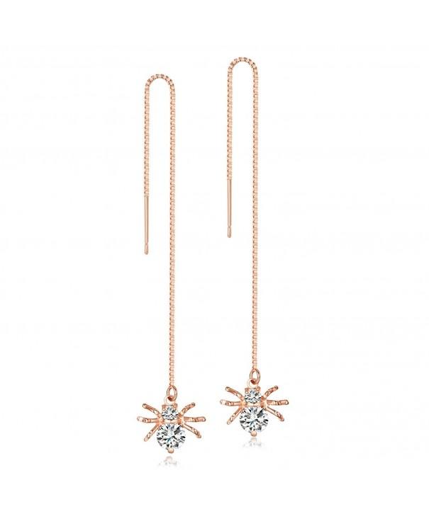 Zirconia Spider Threader Earrings LicLiz