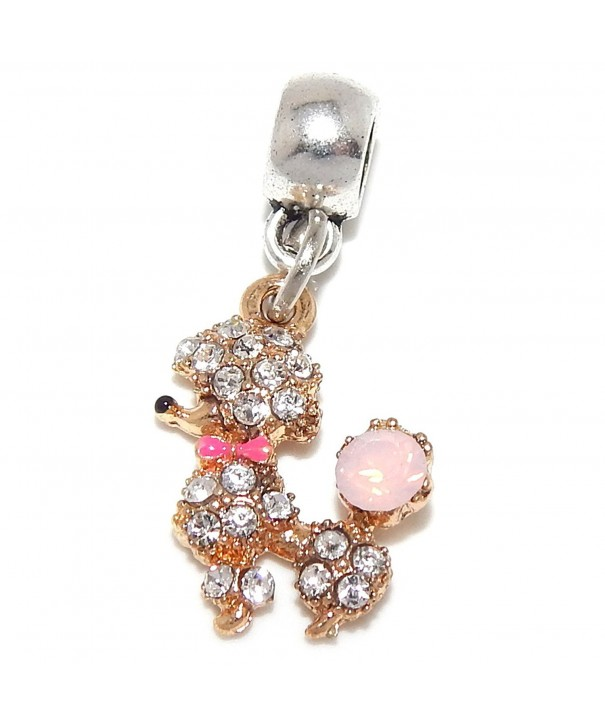 Jewelry Monster Dangling Poodle Crystals