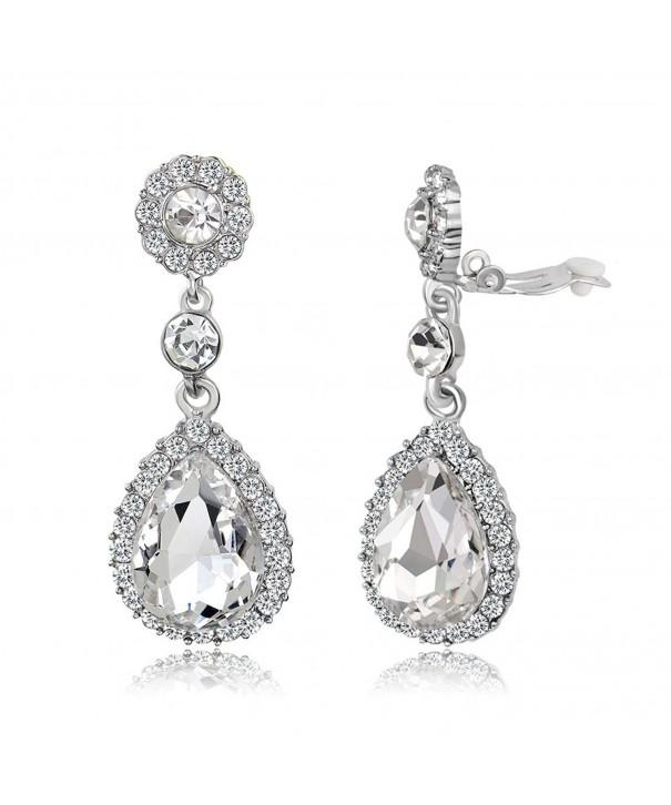 Gorgeous Austrian Rhinestone Teardrop Earrings