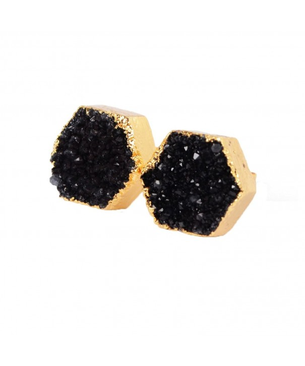 ZENGORI Plated Hexagon Earrings G0616