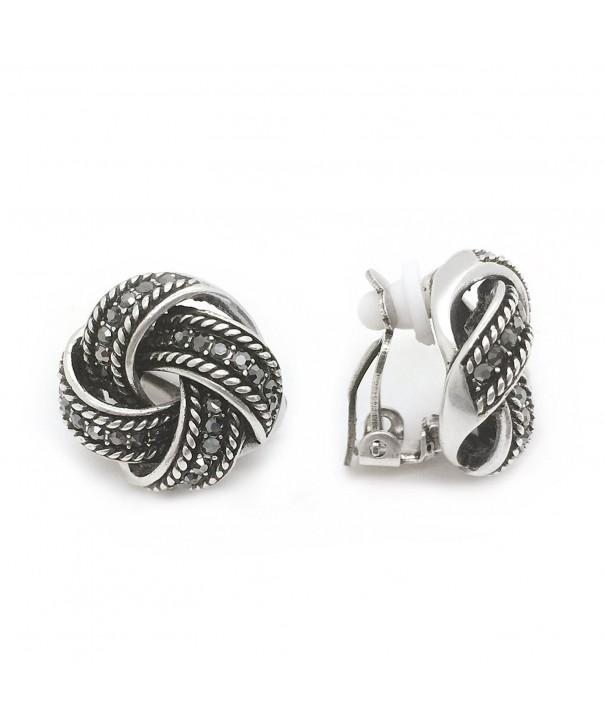 Earrings Crystal Antique Braided Fashion