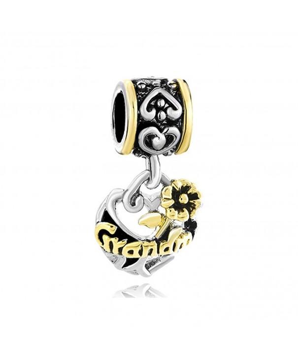 CharmsStory Grandma Flower Dangle Bracelets
