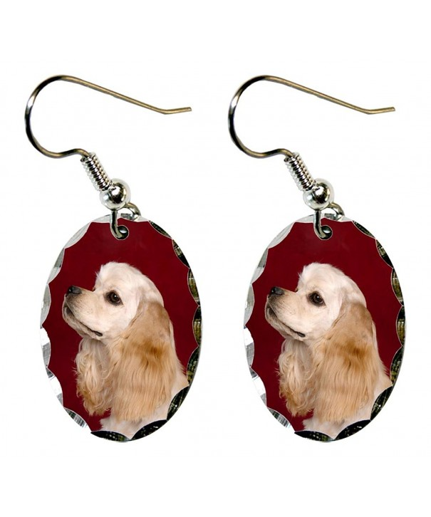Canine Designs Spaniel Scalloped Earrings