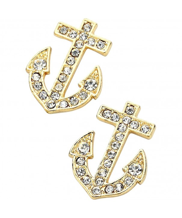 Liavys Anchor Fashionable Earrings Sparkling