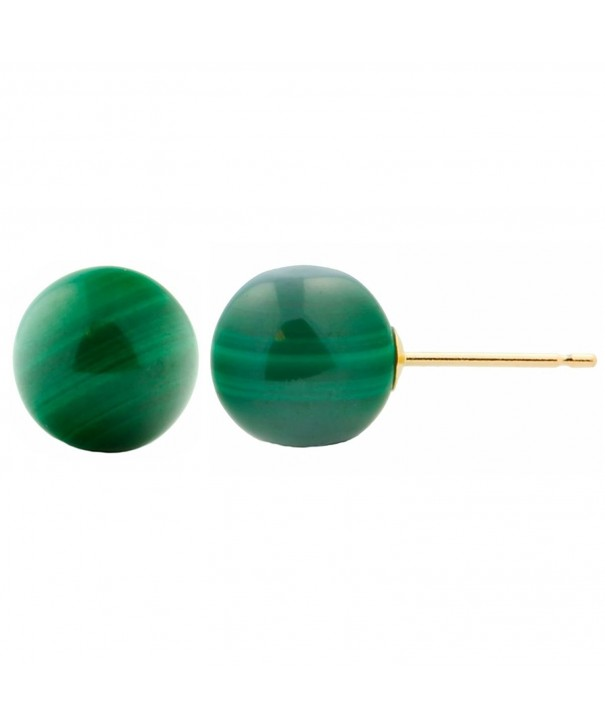 Trustmark Yellow Natural Malachite Earrings