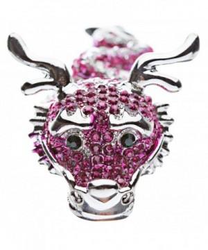 Fuchsia Crystals Stretch Adjustable Fashion
