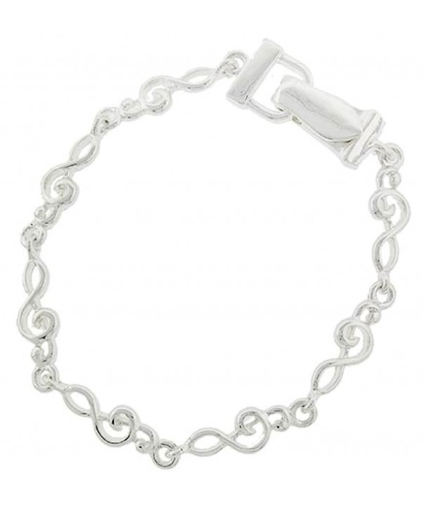Treble Bracelet Silver Magnetic Closure