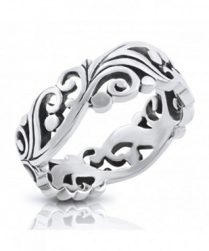 Sterling Silver Filigree Vine Leaves