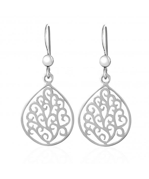 Sterling Silver Swirls Dangle Earrings