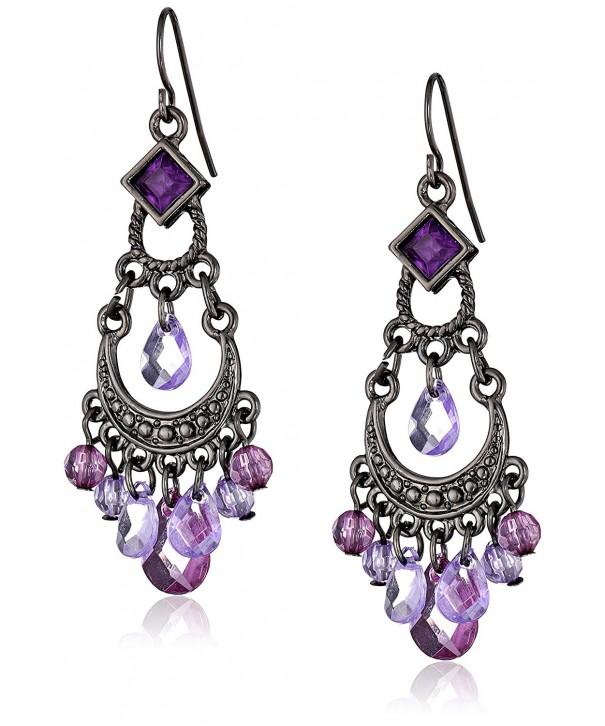 1928 Jewelry Crescent Chandelier Earrings
