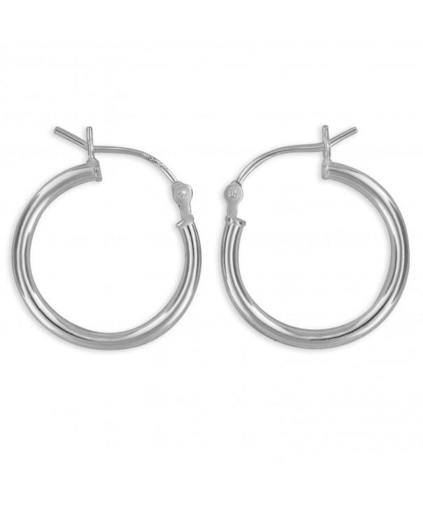 Sterling Silver Hoop Earrings 20mm