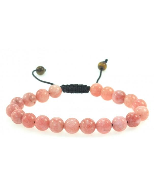 Fashion Cherry Created Quartz Gemstone Bracelet