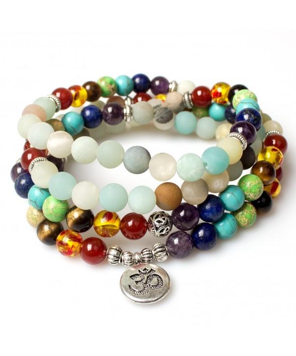 Necklace Buddhist Amazonite Gemstone Bracelet Beautiful