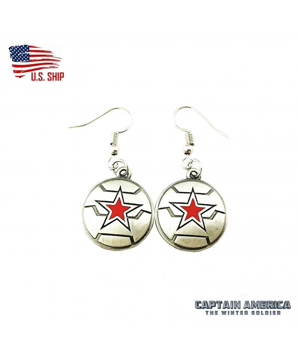 Winter Soldier Cartoon Earrings Superheroes
