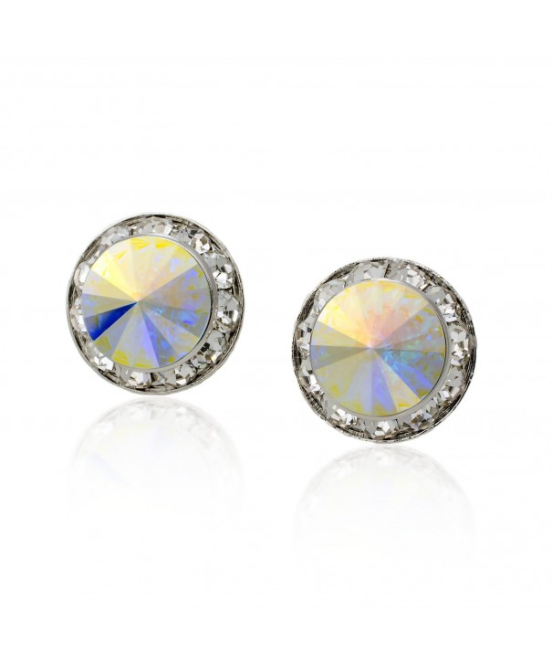 PammyJ Aurora Borealis Crystal Earrings