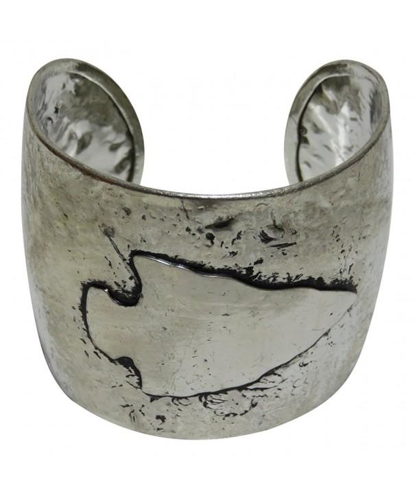 Hammered Silver Arrowhead Bracelet Western