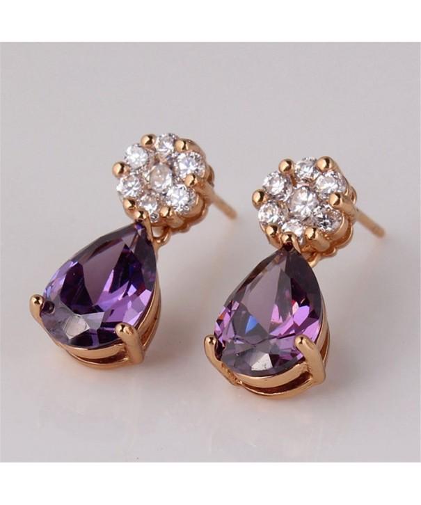 GULICX jewlery Amethyst Glitter earring