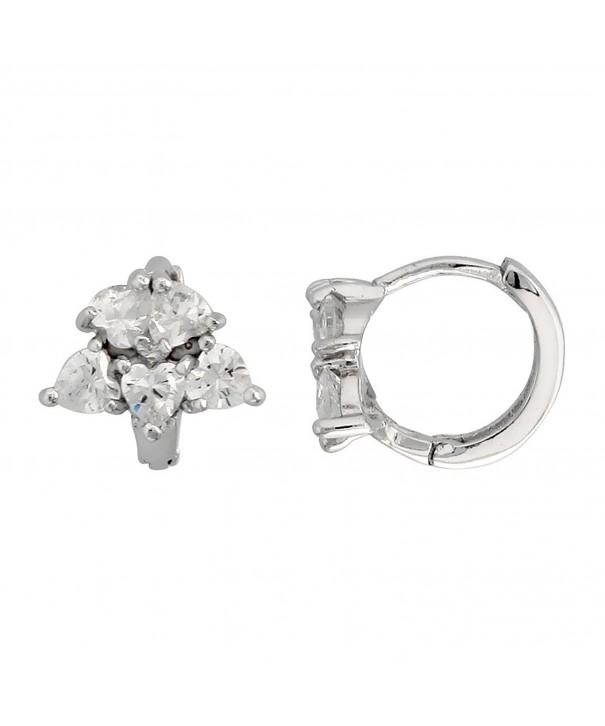 Sterling Silver Zirconia Heart shaped Earrings