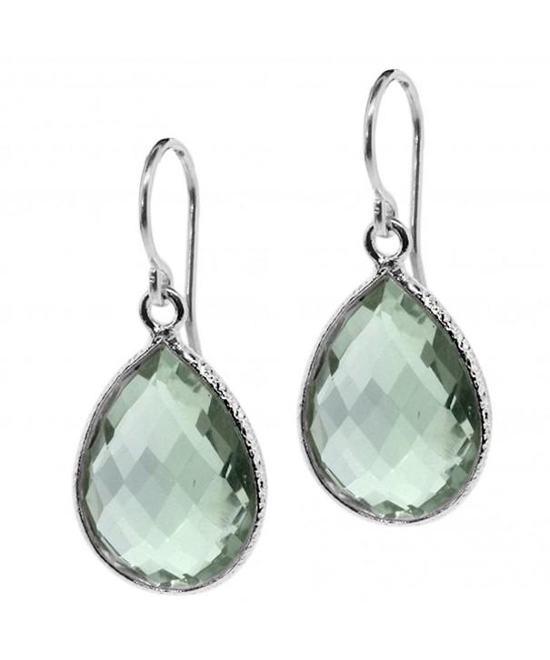 Amethyst 16X12MM Sterling Silver Earrings