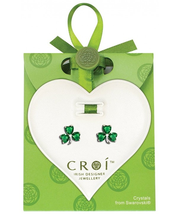 Irish Designed Shamrock Earrings Swarovski