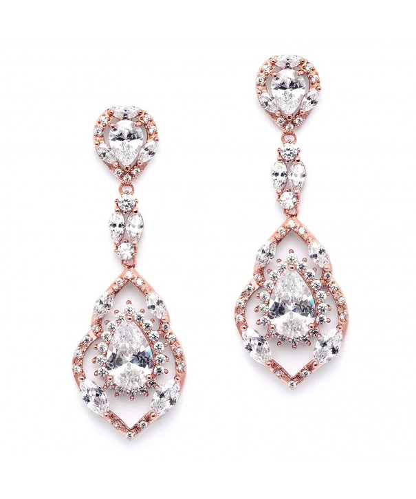 Mariell Gorgeous Chandelier Wedding Earrings