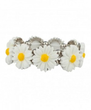 Lux Accessories Sunflower Statement Bracelet