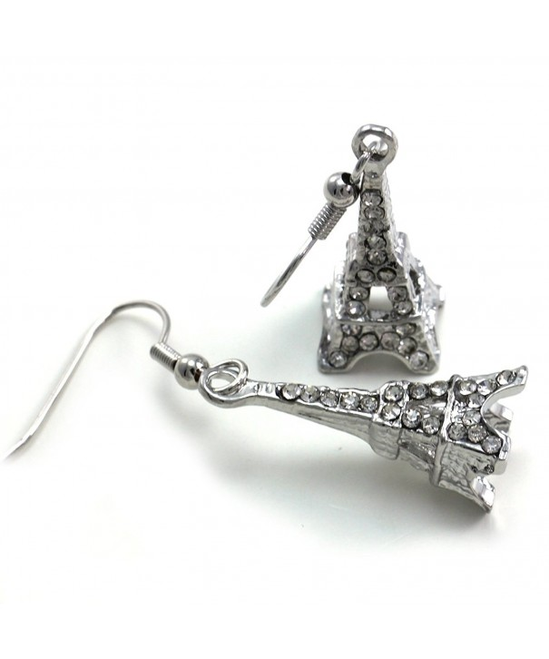 France French Eiffel Earrings Rhinestones