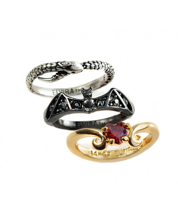 Elviras Stacking Ring Set Serpent