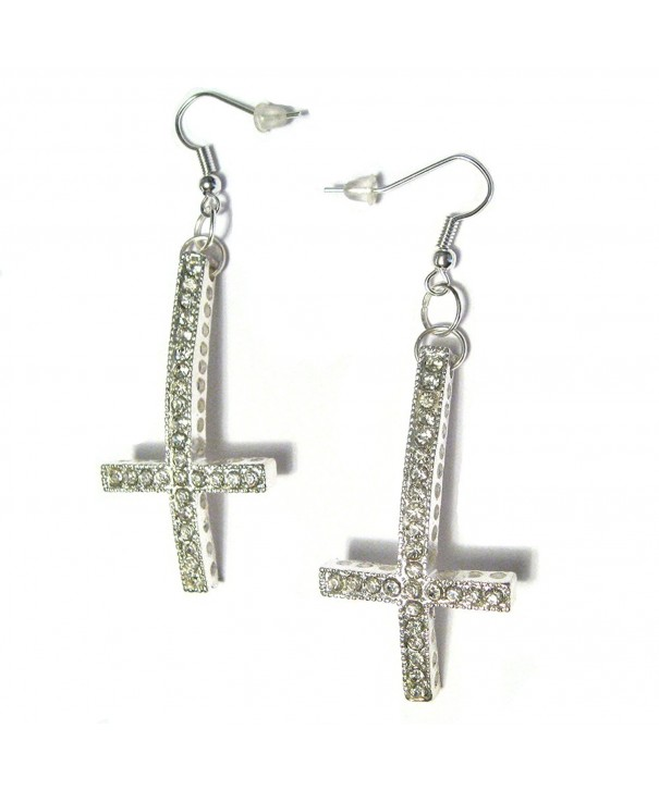 Inverted Crystal Gothic Satanic Earrings