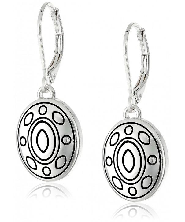 Napier Global Silver Tone Leverback Earrings
